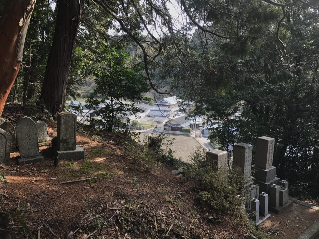 Graves on the hillside path