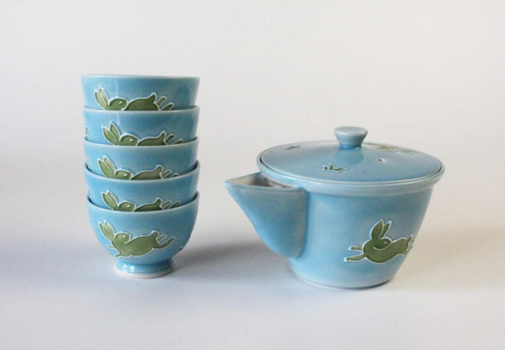 Kochi Japanese Tea Set - Blue
