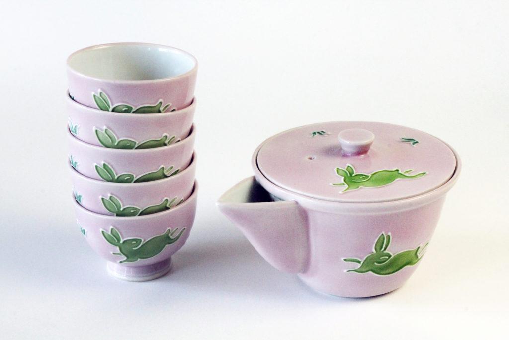 Kochi Japanese Tea Set - Pink
