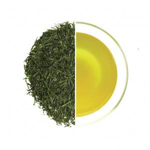 Organic Fukamushicha leaves and liquor