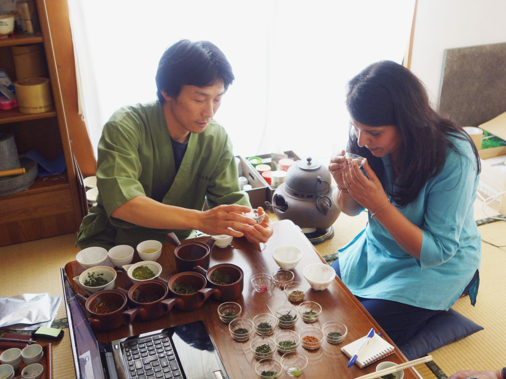 Tea tasting during a Tea Business Consultation