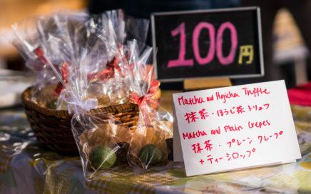 Obubu's matcha truffles at Wazuka's monthly market