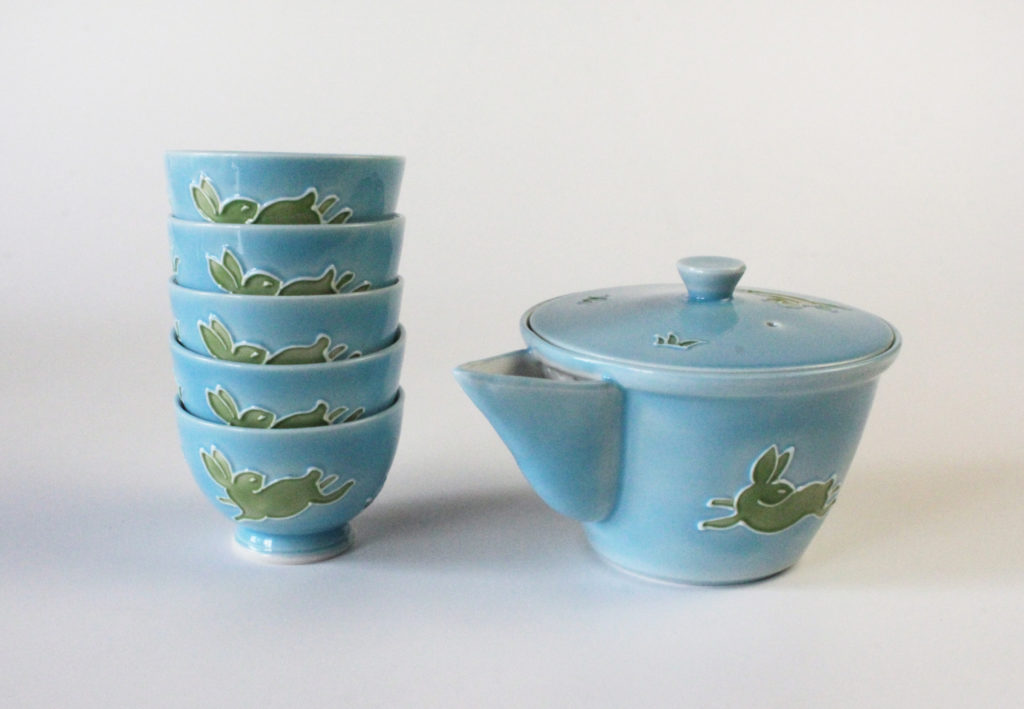 Kochi Japanese Tea Set - Blue
