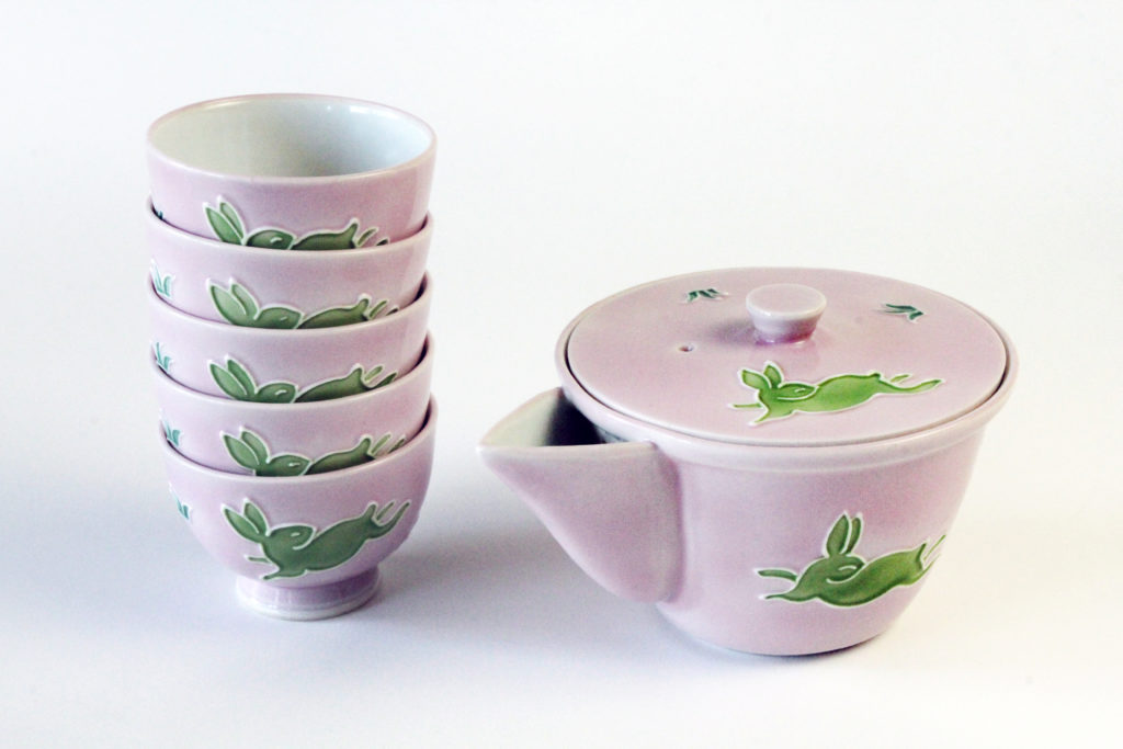 Kochi Japanese Tea Set - Pink