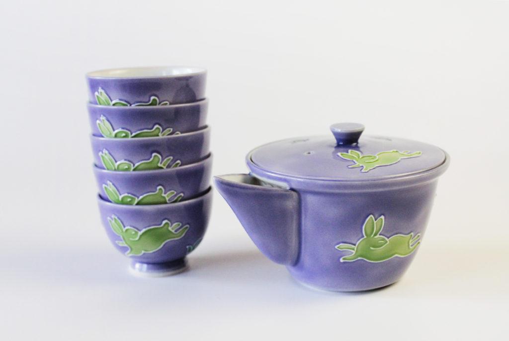 Kochi Japanese Tea Set - Purple